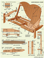 plans adirondack rocking chair