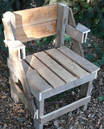 How to build a patio chair from pallets