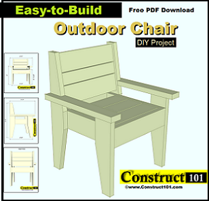 Garden Furniture Plans patio chair building plans - outdoor - lawn chair