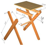 Patio Table Outdoor Table Lawn Table Folding Table Plans
