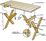 Free Picnic Table Plans 2X6