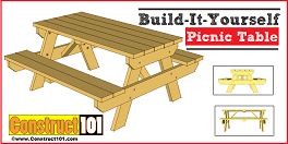 Picnic Table Building Plans - How to DIY Projects