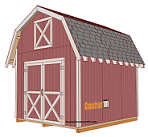 How to build a gable storage shed
